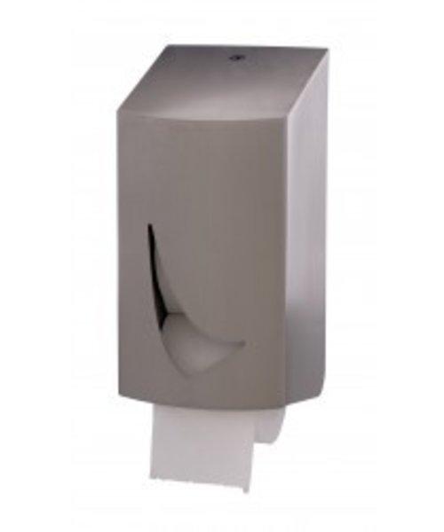 Wings Toiletroldispenser 2-rol kokerloos RVS