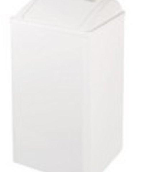 Mediclinics Afvalbak gesloten wit staal 65 ltr