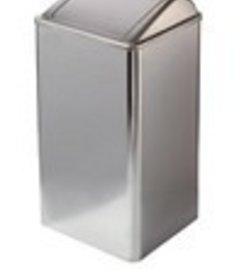 Afvalbak gesloten RVS hoogglans 65 ltr