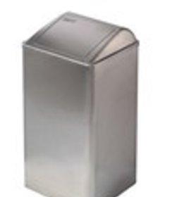 Afvalbak gesloten RVS mat 65 ltr
