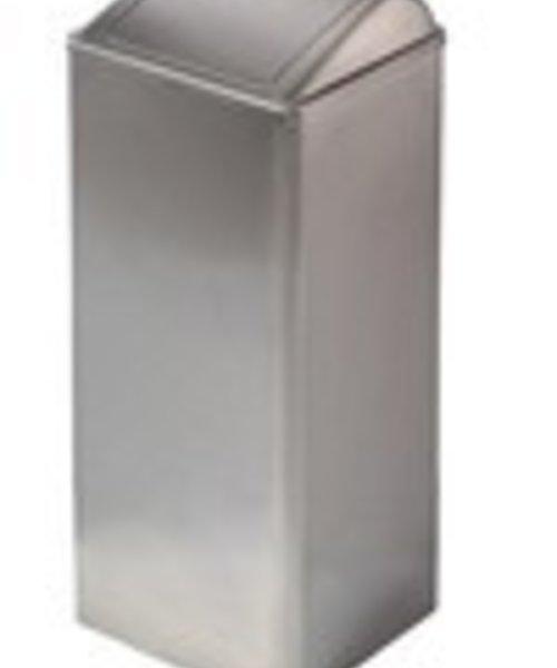 Mediclinics Afvalbak gesloten RVS mat 80 ltr
