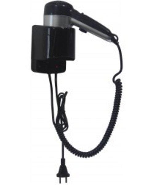 Mediclinics Haardroger ABS met hoofdschakelaar en snoer zilver/zwart