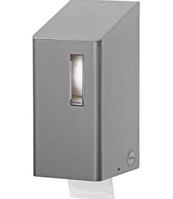 Toiletroldispenser 2-rols dop RVS