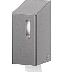 Toiletroldispenser 2 rols traditioneel RVS