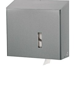Toiletroldispenser 4 rols traditioneel RVS