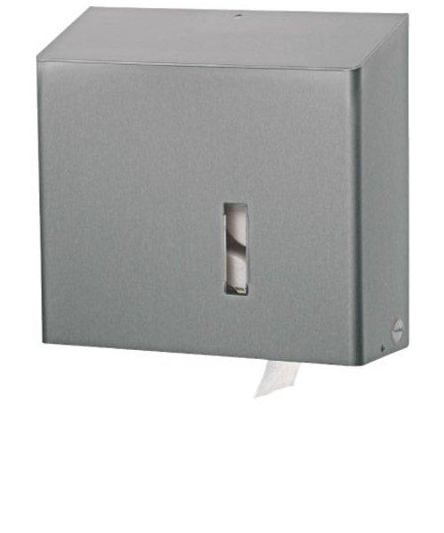 Santral Toiletroldispenser 4 rols dop RVS anti vingerafdruk coating