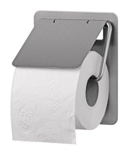 Santral Toiletroldispenser 1 rols traditioneel RVS anti vingerafdruk coating