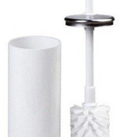 Toiletborstel wit staal