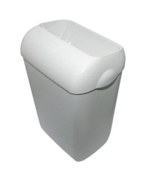 PlastiQline Afvalbak 23 ltr wit