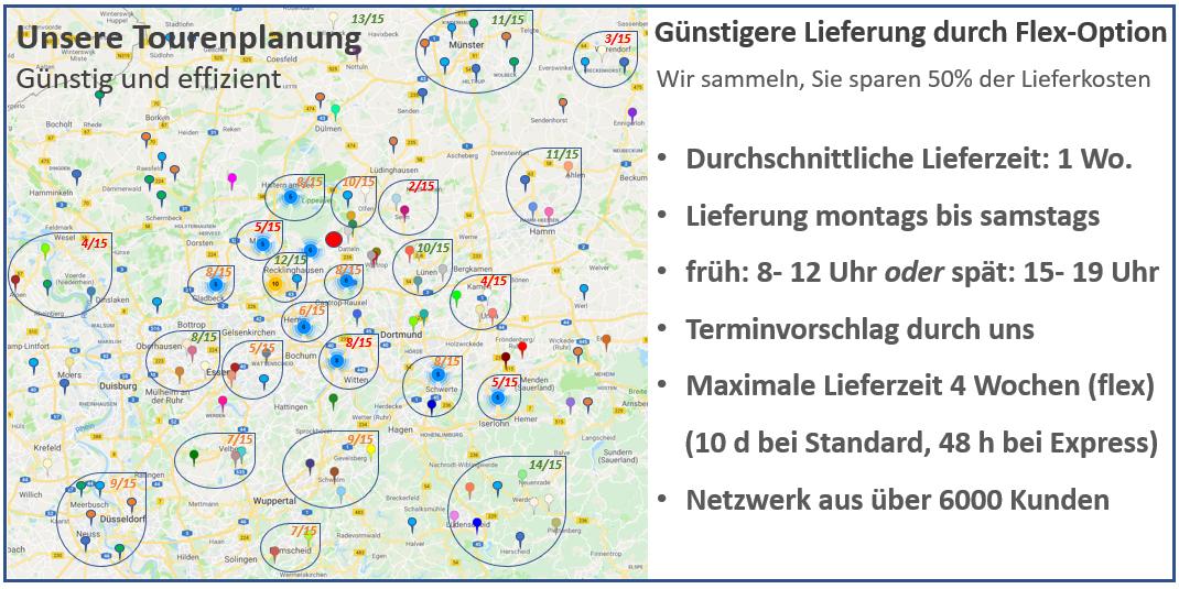 Tourenplanung Pellets Holzbriketts Kaminholz