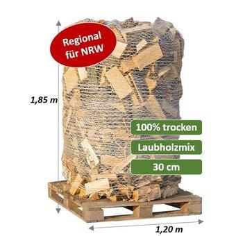 Trockenes Kaminholz - Laubholz-Mix - 2 SRM (700 kg) auf Palette verpackt