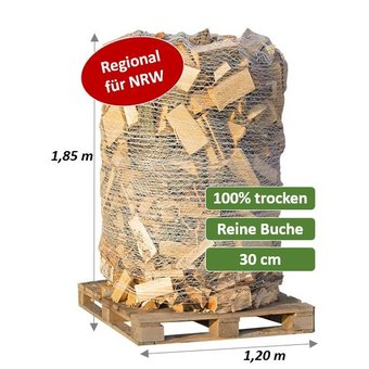 Trockenes Kaminholz - Buche - 2 SRM (700 kg) auf Palette