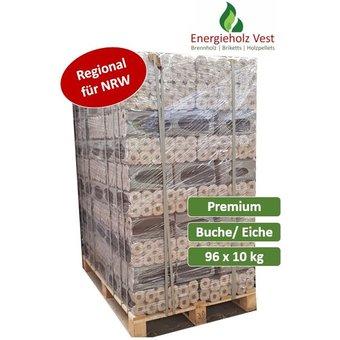 Pini Kay Holzbriketts - 960 kg auf Palette - Premium