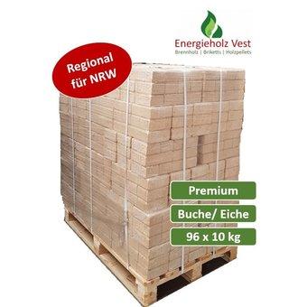 RUF Hartholzbriketts Premium - 960 kg auf Palette