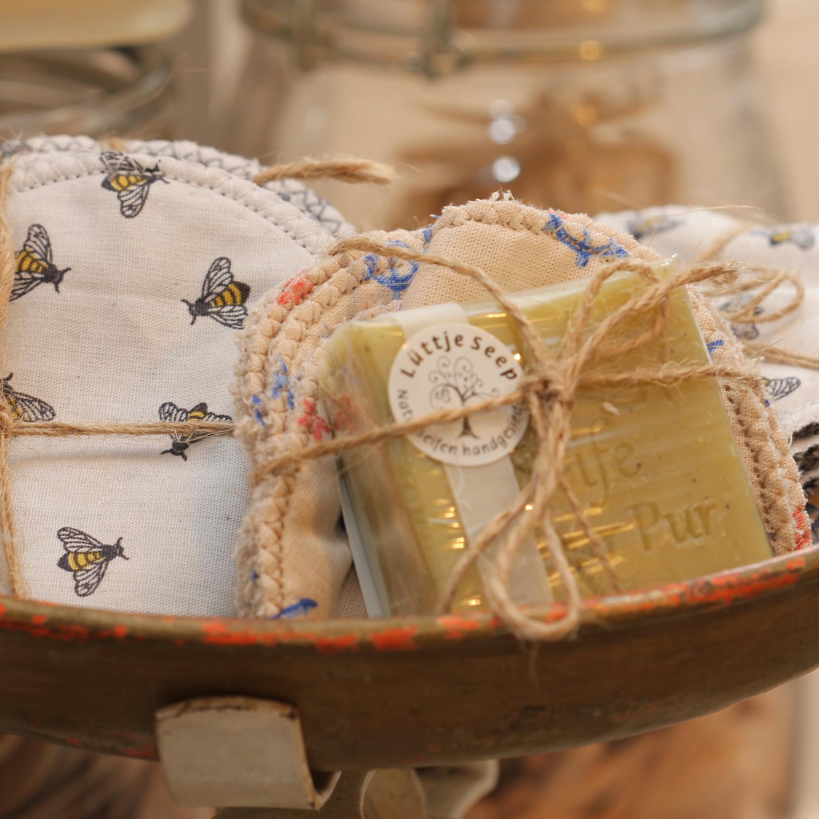 Baumwoll - Abschmikpads Handgefertigt