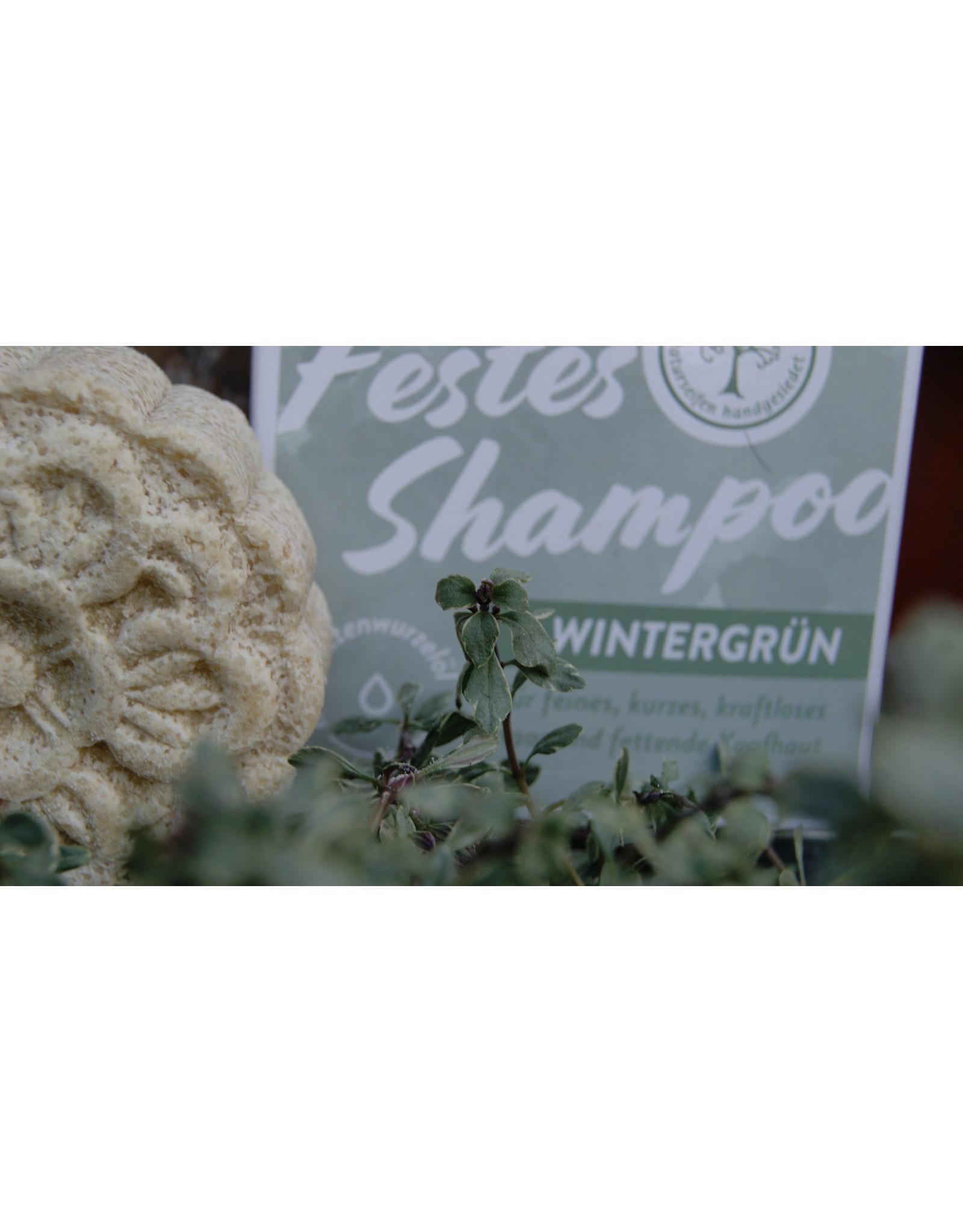 Festes Shampoo Wintergrün, für dünnes, feines Haar, bei fettiger Kopfhaut