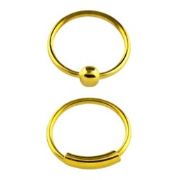 Goud Plated Seamless Neus Ring