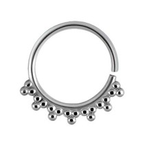 Surgical Steel Nose Ring - Orbs