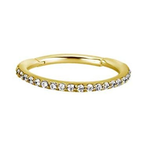 d98fbbae0 Gold Plated Conch Ring - Swarovski Elements