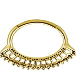 Gold Plated Septum/Daith Ring  - Vintage Design