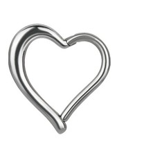 Surgical Steel  Segment Ring - Heart