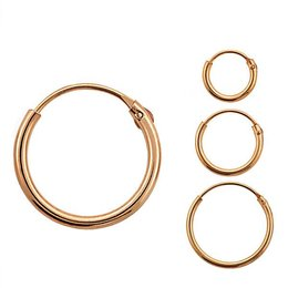 Rose Gold Plated Silver Earring