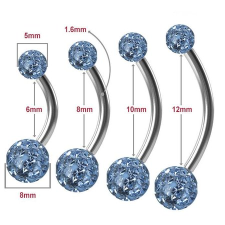 Surgical Steel Belly Ring - Light Blue
