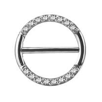 Nipple Clicker Ring - Swarovski Zirconia