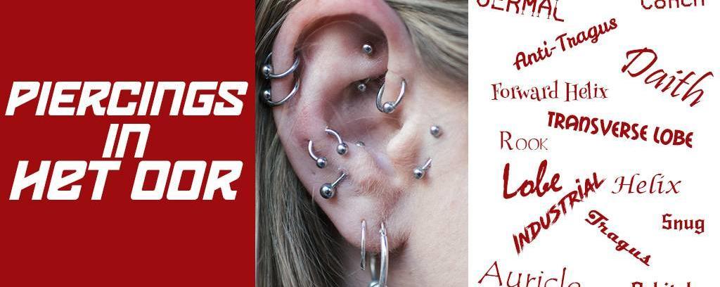 Piercings  in  het oor