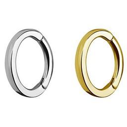 Chirurgisch Staal Segment Ring - Ovaal  (Rechthoekige Profiel)