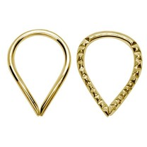 Gold Plated Silver Ear Piercing