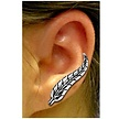 Silver Earrings - Feather Design