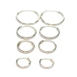 Silver Earrings - 4 Pair Set