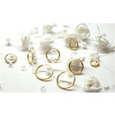 Gold Plated Silver Earrings - 4 Pair Set