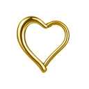 Gold Plated Segment Ring - Heart
