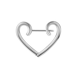 Surgical Steel Hoops - Heart