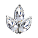 Chirurgisch Staal Barbell - Marquise Cluster