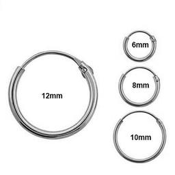 Silver Earrings - 4 Pair Set