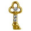 Segment Ring Charm - Key