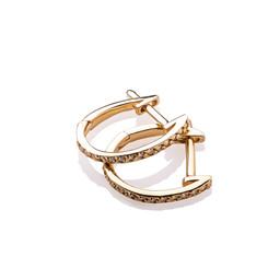 Gold Plated Silver Earrings - Swarovski Elements