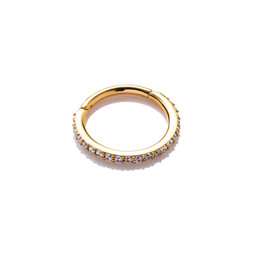 Gold Plated Conch Ring - Swarovski Elements