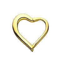 14K Gold  Segment Ring - Heart