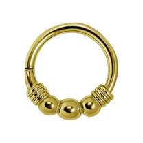 Gold Plated Piercing Ring