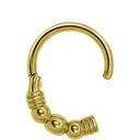 Vergulde Piercing Ring