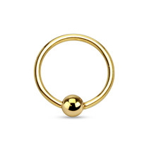 14K Massief Gouden Ball Closure Ring