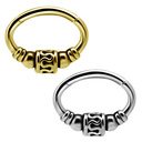 Gold Plated Septum/Daith Click Ring - Tribal
