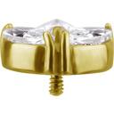 18K Gouden Oor Piercing  - Marquise  Swarovski Zirkonia