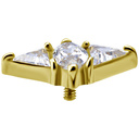 18K Gold  Ear Piercing   -  Swarovski Zirconia