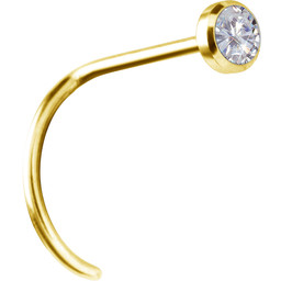 18K Gold Nosestud - Swarovski Diamond