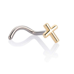 18K Gold Nosestud - Cross